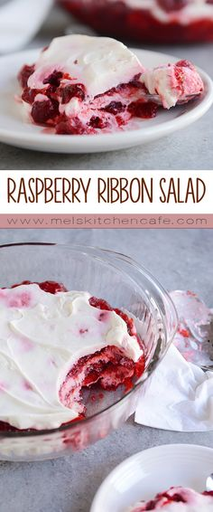 This Raspberry Ribbon Salad is Christmas Jello heaven.