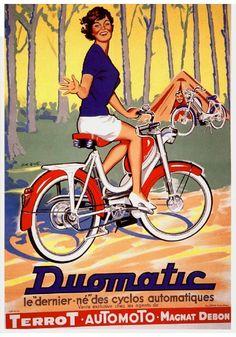 Terrot ad, 1960, when we rode bikes wearing kitten heals