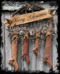Prim Christmas Stockings