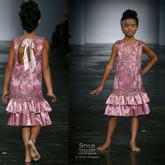 Loren Franco Designs Spring/Summer 2016 - beaded pink dress
