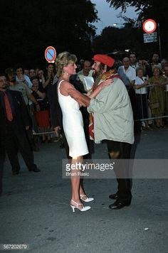 Children of Bosnia Charity Concert, Modena, Italy 1995, Luciano Pavarotti and Princess Diana.