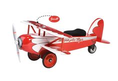 Cool gifts for kids: Personalized Ace Flyer Biplane Ride-On Toy