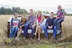 family family of six family and dog Portland Family Portrait Photographer ~ My Family, Christmas 2013 » the red barn photography