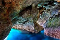 "Swimming in the sea caves next to Marmara (or ""Dialeskari"") beach (close to Loutro village), Sfakia, Chania, Crete, Greece Mykonos Greece, Athens Greece, Santorini, Crete Chania, Heraklion, Crete Island, Greece Islands, Places To Travel, Places To See"