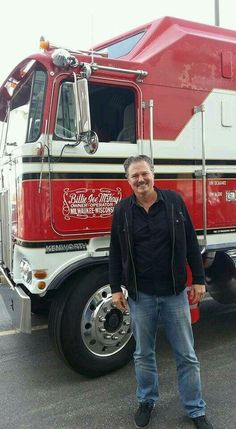 Greg Evian with his old truck. BJ