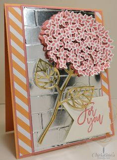 Thank you card using stampin' Up!'s Thoughtful Branches stamp set; stampin' up…