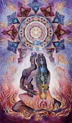 Tantra and complete spiritual joining uses sacred geometry within the Chakra systems.
