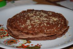 walnut-cocoa pancakes without eggs