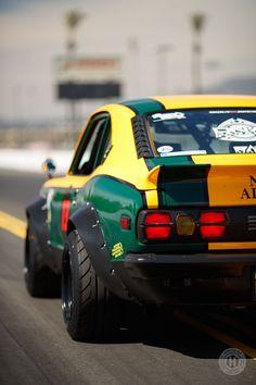 Retro Race Looks, Three-Rotor Power: A Heroic - Hoonigan Slammed Cars, Ferrari, Custom Muscle Cars, Old School Cars, Custom Vans, Japanese Cars, Modified Cars, Car Wallpapers, Courses