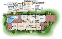 get rid of the pool and second floor, relocate the laundry room more practically closer to the master bedroom, add a basement