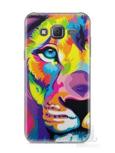 Capa Samsung J5 Leão Colorido #1 - SmartCases - Acessórios para celulares e tablets :)