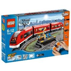 Lego City - Passenger Train The Lego City - Passenger Train 7938 is super fast! The Passenger Train is the fastest way for the people of Lego City to travel. Construct a circuit from 32 individual track pieces which include 16 . Train Lego, Lego Trains, Lego City Sets, Lego Sets, Legos, Toys For Boys, Kids Toys, Buy Lego, Lego Worlds