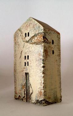 set of 3 ceramic houses made in high fired by VesnaGusmanArt