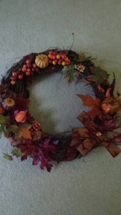 Autumn wreath..I actually made this one for a sale!!