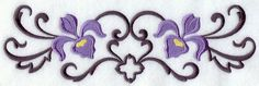 Iris and Wrought Iron Border design (E5998) from www.Emblibrary.com