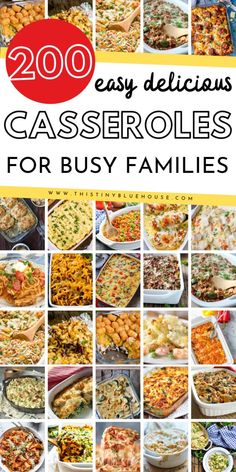 Here is the ultimate collection of easy and cheap casserole recipes that are perfect for easy fall and winter dinner. Divided by protein this massive collection of delicious casserole's is guaranteed Fun Easy Recipes, Quick Easy Meals, Healthy Recipes, Frugal Meals, Freezer Meals, Fall Recipes, Recipes Dinner, Easy Eat, Winter Dinner Recipes