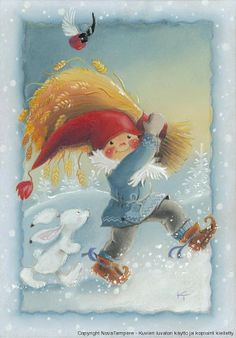 special noel - Page 3 Illustration Noel, Winter Illustration, Christmas Illustration, Illustrations, Gnome Pictures, Cute Pictures, Clipart Noel, Vintage Christmas, Christmas Cards