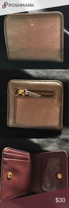 NWOT Fossil Wallet Brand new Fossil Wallet! Metallic and burgundy color. Fossil Bags Wallets