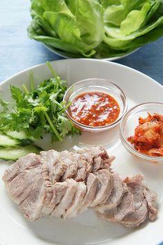 みゆき先生の簡単&おいしい韓国料理レシピ!「ポッサム」 島本美由紀 韓国料理レシピ 韓国料理教室 ポッサム 豚肉 ジューシー柔らか