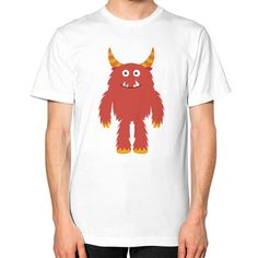 Unisex T-Shirt (on man) - Monster Red. American Apparel Fine Jersey (2001) short sleeve T-shirt is made of 100% fine ring-spun combed cotton. Traditional cut for both men and women. This lightweight fine jersey is exceptionally smooth. Made in USA. 9 skilled workers construct each T-Shirt in a sweatshop-free environment in downtown Los Angeles. The product is printed on demand and cannot be returned or exchanged.    Size Chest (inches) Waist...
