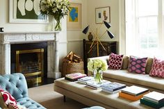 Pippa Holt's Dublin home: the more formal of the two sitting rooms. Tim Evan-Cook.