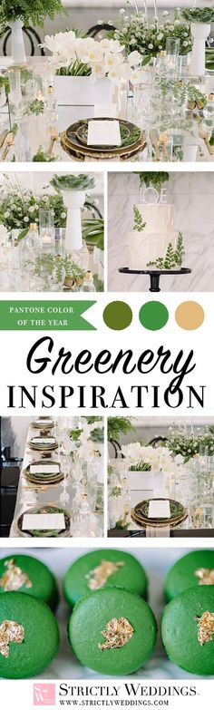 How fitting to commemorate the start of 2017 by diving into Greenery wedding ideas inspired by Pantone Color of the Year. A color that is refreshing and revitalizing.