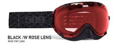 509 Aviator Snow Goggle Black with Rose Lens
