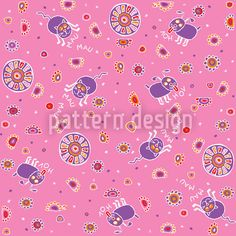 Pet Babies Pink by Maja Tomazic available for download as a vector file on patterndesigns.com