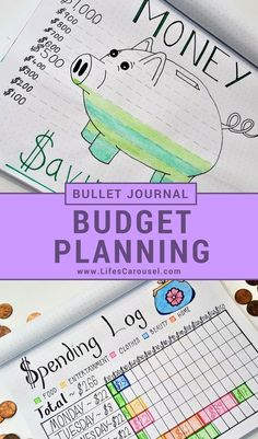 Bullet Journal Budget Tracker & More | Awesome ways to use your bullet journal as a savings tracker, money layouts, spending log spread and more. Get your finances in order with your Bujo!