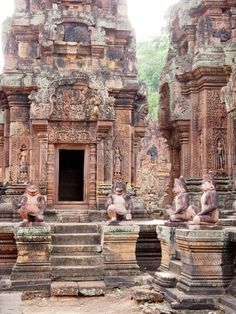 Banteay Srei is a 10th-Century temple found in Angkor that is dedicated to the Hindu God Shiva. #Shiva #Cambodia #AngorWat #Temple