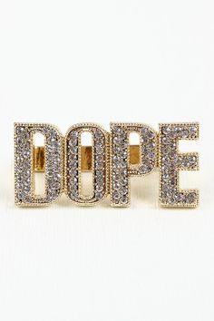 Dope Girl Fresh Ring #dope