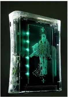 XCM Xbox 360 Case Shell with HDMI Port - Custom Green - Master Chief Full replacement case for the Xbox that includes all parts for a complete custom look. It also features a beautiful light system wh