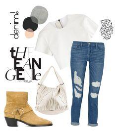 """Gigi H's inspired outfit."" by nab-ila ❤ liked on Polyvore featuring moda, Jimmy Choo, Golden Goose, Neil Barrett, Frame Denim, women's clothing, women, female, woman e misses"