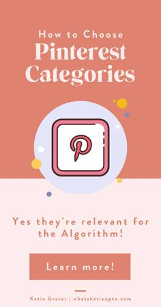 Pinterest Categories are actually relevant for the Pinterest Algorithm and can help you grow your Blog Subscriber and grow your Blog Traffic. This is an easy hack and great blogging tips you can implement today to make your Pinterest category and Pinterest Boards rank higher. Give Pinterest the information they need to understand your pins. #pinterestmarketing #pinterestips #pinterestalgorithm #bloggingtips Small Business Marketing, Content Marketing, Business Tips, Pinterest App, Pinterest Board, Pinterest Categories, Hacks, Pinterest For Business, Pinterest Marketing