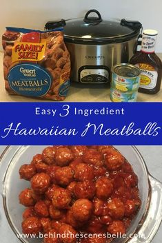 Easy three-ingredient slow cooker Hawaiian Meatballs make a perfect appetizer for a crowd and can double as a main dish for your family.