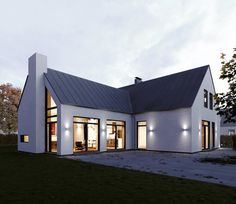 TIMBER FRAME KIT - from This 4 bedroom home is 265 square meters or square feet. The basic timber frame kit for this Home… Bungalow House Design, Modern House Design, House Designs Ireland, Dormer Bungalow, A Frame House Plans, Self Build Houses, Bungalow Renovation, Modern Farmhouse Exterior, Modern Bungalow Exterior