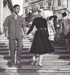 Anita Ekberg et Anthony Steel, Rome, 1958
