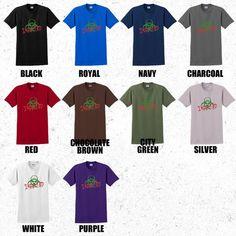 Zombie Tshirt mens - Infected, Bio-hazard tshirt