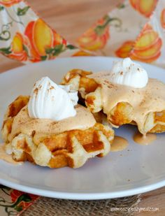 For breakfast, add pumpkin pie to your morning waffles for added morning sweetness.