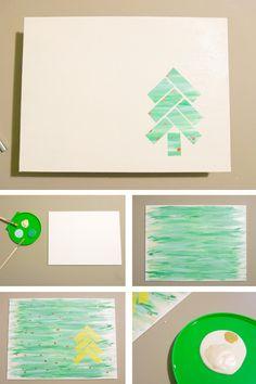 DIY Christmas Art Piece