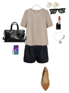 """OOTD 12/12/2015"" by ladykbaez on Polyvore featuring 3.1 Phillip Lim, Gérard Darel, Alex and Ani, Samsung, Christian Dior, Mikimoto, Max Studio, Coach, Ray-Ban and MAC Cosmetics"