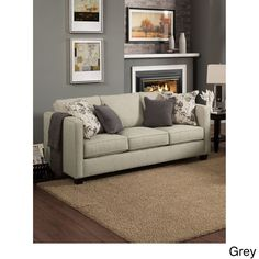 Furniture of America Kalisie Modern Chenille Sofa