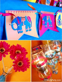 Party Printables | Party Ideas | Party Planning | Party Crafts | Party Recipes | BLOG Bird's Party: A Colorful Bollywood Bling Party
