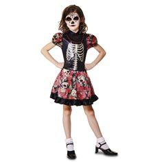 Disfraz de Calavera Mexicana Niña #disfraces #halloween