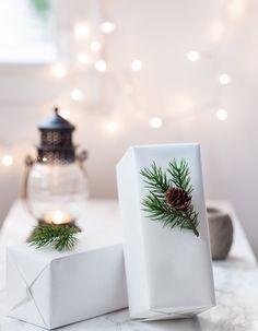 Inspiration für Weihnachten: Geschenke einpacken. DIY, selbermachen.Geschenkpapier. Minimalistisch, Skandinavisch.