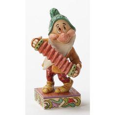 Jim Shore - Disney Traditions - Affable Accordionist - Bashful - Seven Dwarfs by Jim Shore,