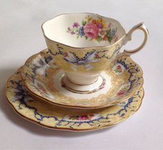 Royal Albert Valentine China Teacup Saucer Plate Trio British Vintage | eBay