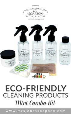 Need a small kit to keep under your bathroom sink? Looking for a unique gift for a friend, teacher, housekeeper, etc.? This Mini Combo Kit is for you! Get it here: http://www.mrsjonessoapbox.com/collections/combo-kits/products/mini-combo-kit #cleaning #ecofriendly #house #home