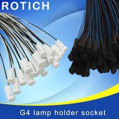 10pcs Free shipping,high quality 50CM Crystal lamp holder lamp holder socket,G4 led/G4/bulb plug,12V 10-20W,lighting accessories