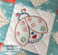 Quilting crafts - Happy Little Things Block of the Month – Quilting crafts Embroidery Patterns, Hand Embroidery, Sewing Patterns, Yarn Crafts, Sewing Crafts, Quilting Projects, Sewing Projects, Quilt Blocks Easy, Japanese Quilts